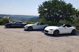 Miata run while traveling the hill country