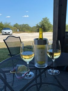 Drinking wind from Kerrville Hills Winery